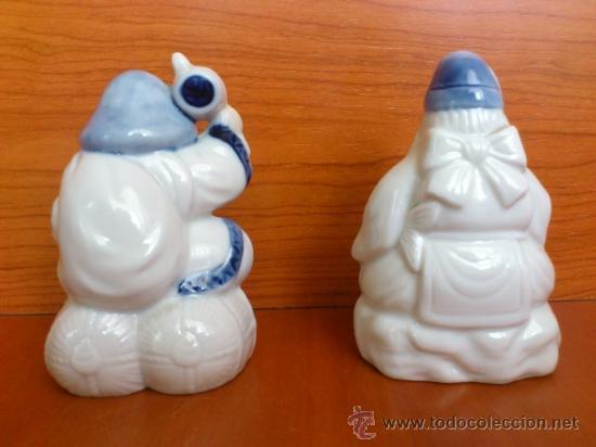 Antigüedades: Pareja de figuras Japonesas antiguas en porcelana fina mate/brillante ( EIHO ) AÑOS 60 - Foto 4 - 37957758