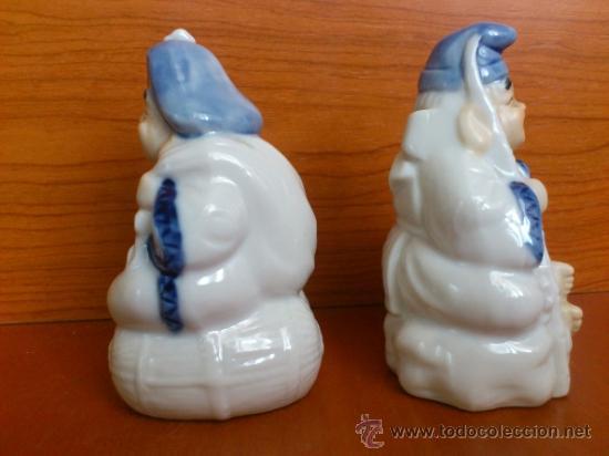 Antigüedades: Pareja de figuras Japonesas antiguas en porcelana fina mate/brillante ( EIHO ) AÑOS 60 - Foto 3 - 37957758