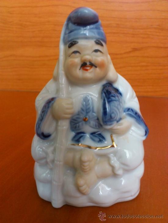 Antigüedades: Pareja de figuras Japonesas antiguas en porcelana fina mate/brillante ( EIHO ) AÑOS 60 - Foto 6 - 37957758