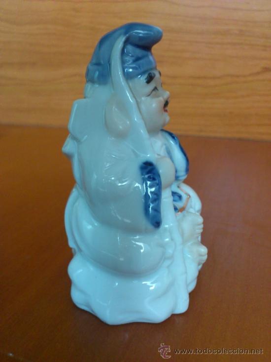 Antigüedades: Pareja de figuras Japonesas antiguas en porcelana fina mate/brillante ( EIHO ) AÑOS 60 - Foto 9 - 37957758