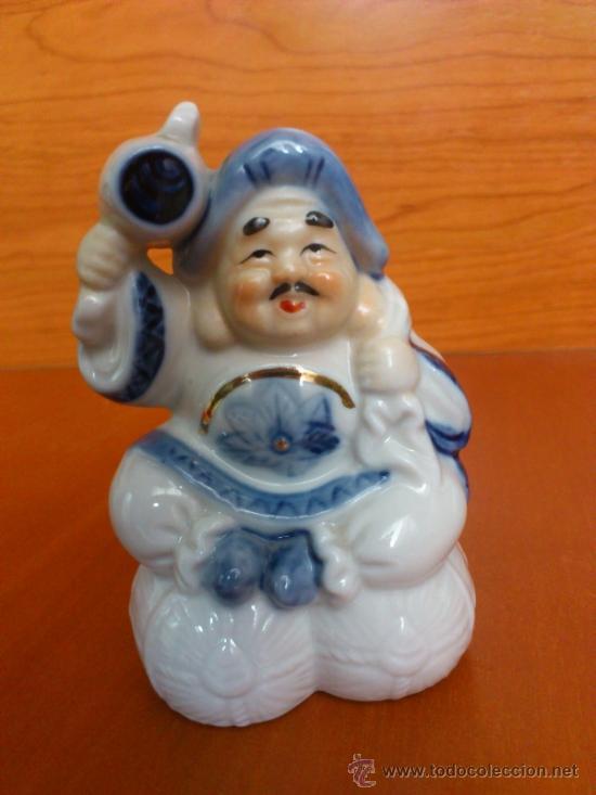 Antigüedades: Pareja de figuras Japonesas antiguas en porcelana fina mate/brillante ( EIHO ) AÑOS 60 - Foto 11 - 37957758