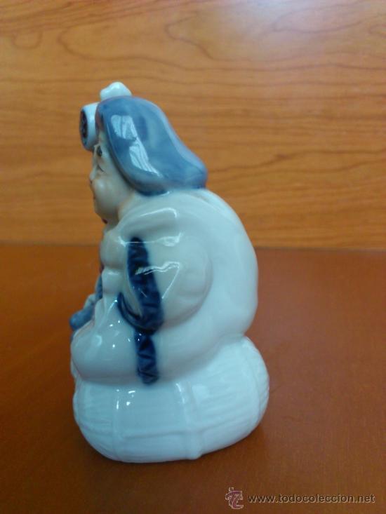 Antigüedades: Pareja de figuras Japonesas antiguas en porcelana fina mate/brillante ( EIHO ) AÑOS 60 - Foto 12 - 37957758