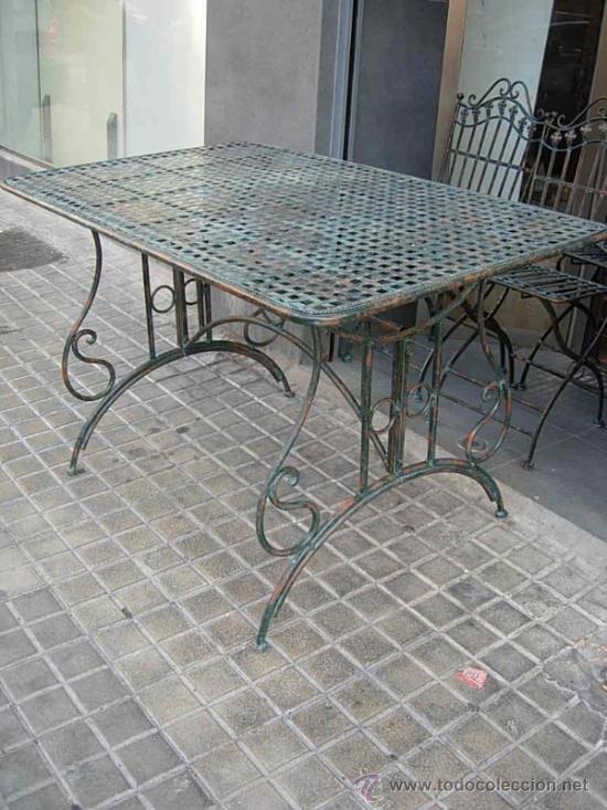 mesa de terraza o jardin de hierro comprar mesas