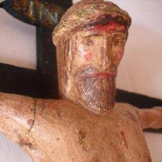 Antigüedades: CRISTO POPULAR ESCULTURA EN MADERA . Lote 37962994