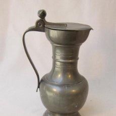 Antigüedades: JARRA ANTIGUA DE PELTRE. Lote 37969488