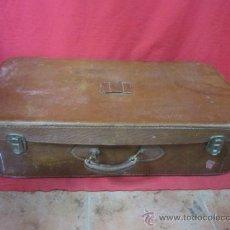 Antigüedades: MALETA DE VIAJE EN CUERO. . Lote 38263607