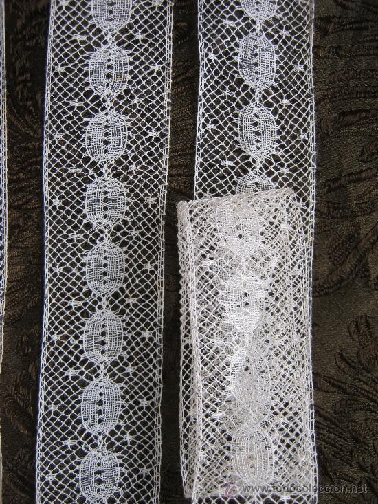 Antigüedades: ANTIGUO ENCAJE DE VALENCIENNES S. XIX - Foto 2 - 142794916