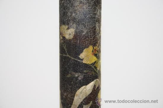 Antigüedades: VIOLETERO EN MADERA PINTADA PRINC S XX. - Foto 7 - 37999918
