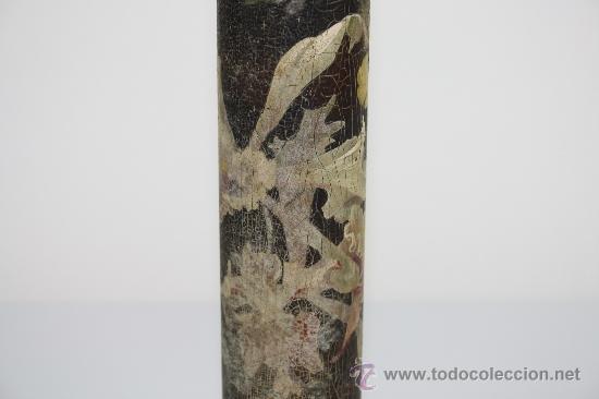 Antigüedades: VIOLETERO EN MADERA PINTADA PRINC S XX. - Foto 8 - 37999918