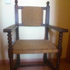 Antigüedades: SILLA ANTIGUA CASTELLANA DE GRANDES DIMENSIONES. Lote 38009802