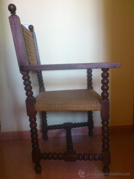 Antigüedades: Silla antigua castellana de grandes dimensiones - Foto 2 - 38009802