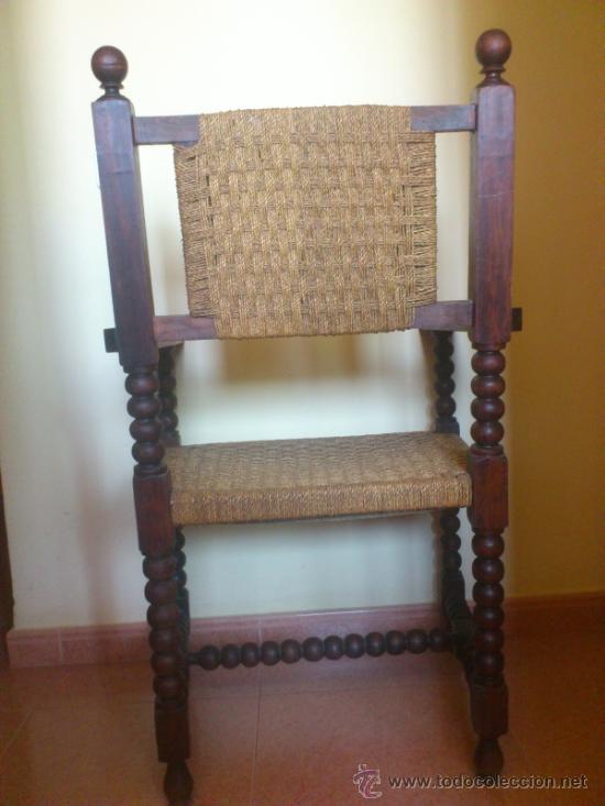 Antigüedades: Silla antigua castellana de grandes dimensiones - Foto 3 - 38009802