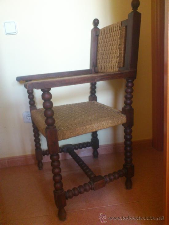 Antigüedades: Silla antigua castellana de grandes dimensiones - Foto 4 - 38009802
