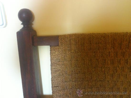 Antigüedades: Silla antigua castellana de grandes dimensiones - Foto 15 - 38009802