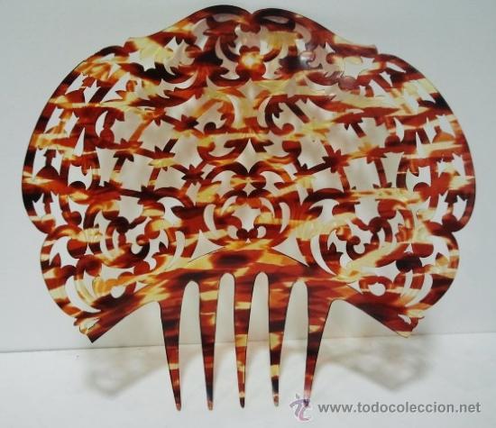 BONITA PEINETA SIMIL CAREY (Antigüedades - Moda - Peinetas Antiguas)