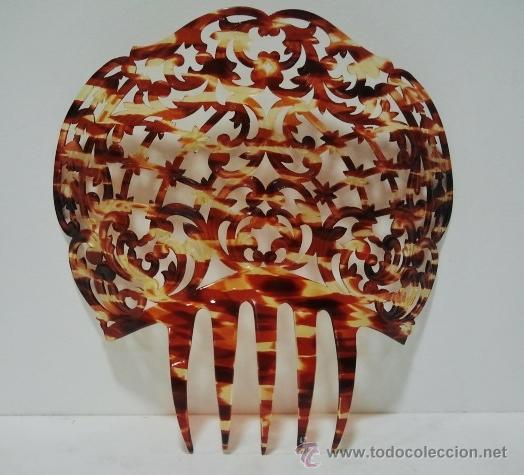 Antigüedades: Bonita peineta simil carey - Foto 2 - 55864897