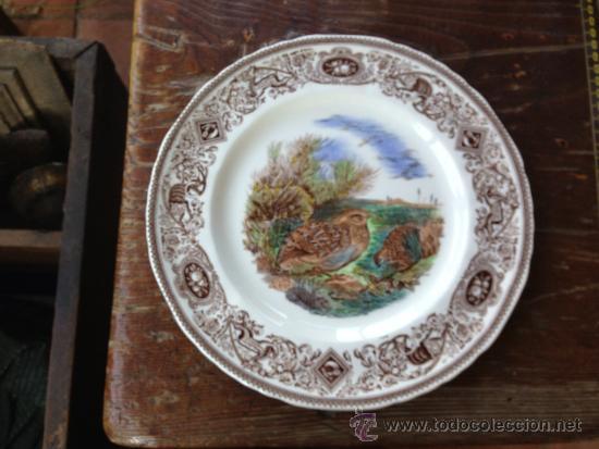 PLATO MASON´S ENGLAND. ESCENA DE CAZA. 27 CM DIÁMETRO. (Antigüedades - Porcelanas y Cerámicas - Inglesa, Bristol y Otros)