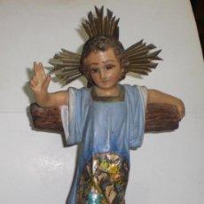 Antigüedades: BONITO NIÑO JESÚS DE PASTA DE OLOT (OJOS DE CRISTAL). EXCELENTE ESTADO.. Lote 38054495