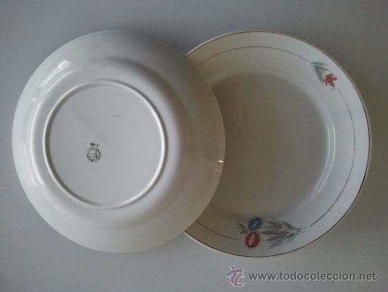 Antigüedades: Juego de 2 platos de San Claudio Oviedo. . - Foto 3 - 38066718