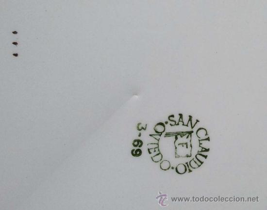 Antigüedades: Juego de 2 platos de San Claudio Oviedo. . - Foto 4 - 38066718