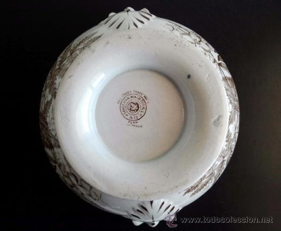 Antigüedades: Antigua Sopera Sandeman Macdougall. Serie Fern. China Opaque. - Foto 5 - 38065000