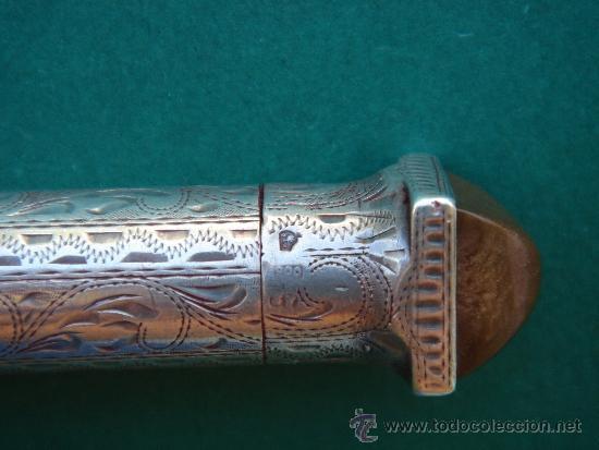 Antigüedades: DETALLE DEL CONTRASTE DE LA PLATA Y DE LA TURMALINA - Foto 2 - 38082902