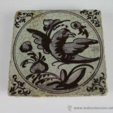 Antiquités: AZULEJO S XVIII. MOTIVO AVE.. Lote 38092062