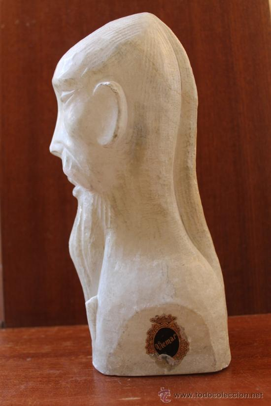 Antigüedades: ANTIGUA ESCULTURA TALLA DE BUSTO CHINO EN ALABASTRO - Foto 2 - 38104186
