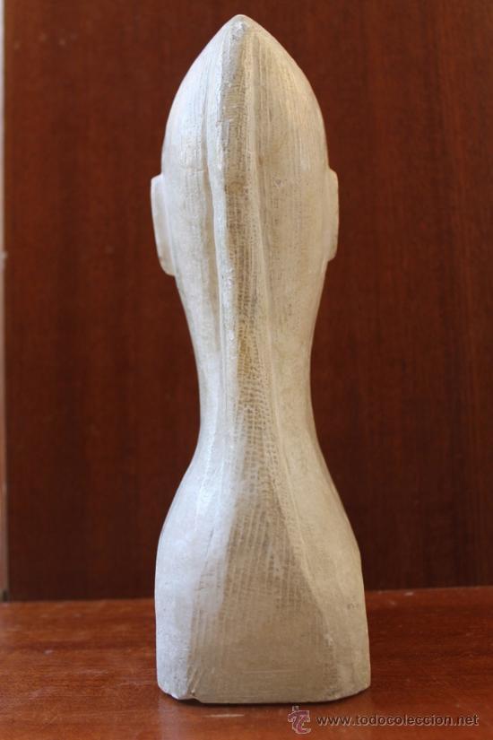 Antigüedades: ANTIGUA ESCULTURA TALLA DE BUSTO CHINO EN ALABASTRO - Foto 4 - 38104186