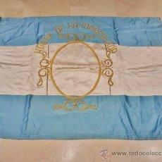 Antigüedades: GRAN ESTANDARTE ANTIGUO DE RASO. HOGAR DEL SAGRADO CORAZÓN, COLEGIO DE LAS ADORATRICES (ZAMORA). . Lote 38116010