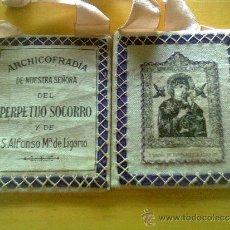 Antigüedades: ESCAPULARIO NUESTRA SEÑORA PERPETUO SOCORRO. Lote 38122408