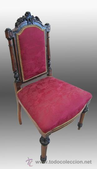 Antigüedades: Pareja de sillas alfonsinas. S. XIX - Foto 2 - 38154942