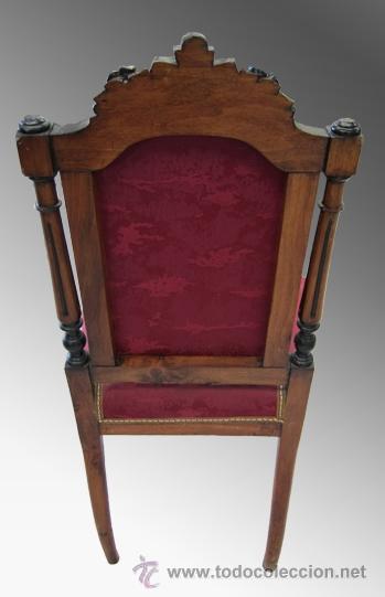 Antigüedades: Pareja de sillas alfonsinas. S. XIX - Foto 3 - 38154942
