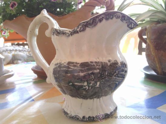 ANTIGUA JARRA DE LOZA DE CARTAGENA (Antigüedades - Porcelanas y Cerámicas - Cartagena)