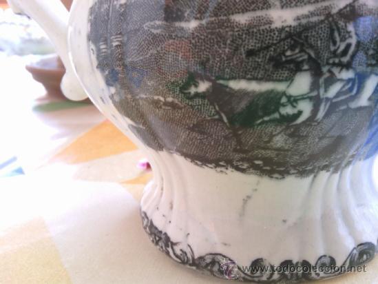 Antigüedades: antigua jarra de loza de cartagena - Foto 3 - 38141587