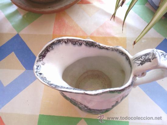 Antigüedades: antigua jarra de loza de cartagena - Foto 5 - 38141587