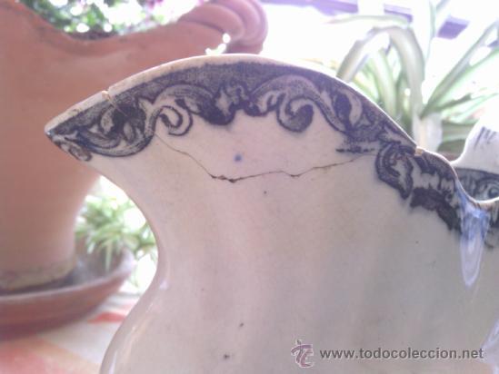 Antigüedades: antigua jarra de loza de cartagena - Foto 6 - 38141587