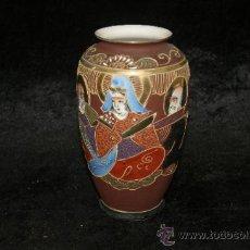 Antigüedades: ANTIGUO JARRON ORIENTAL EN PORCELANA PINTADA. Lote 92320283