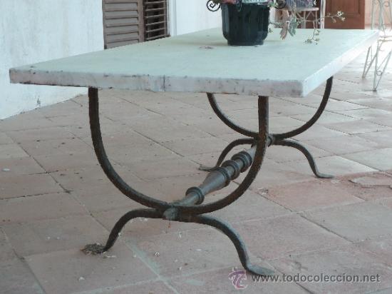 Compra Muebles Segunda Mano Barcelona : Mesa de mármol con patas forja comprar mesas antiguas