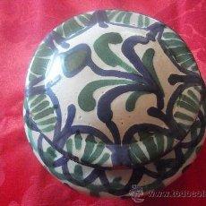 Antigüedades: CAJA CON TAPA - VIDRIADA - CERÁMICA GRANADINA – FAJALAUZA. Lote 38188171