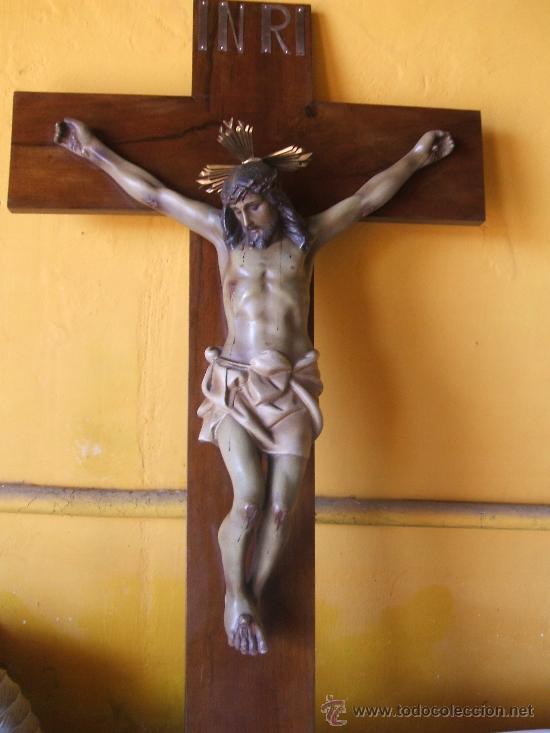 Antigüedades: CRUCIFIJO. SANTO CRISTO MUY GRANDE. - Foto 2 - 38205557
