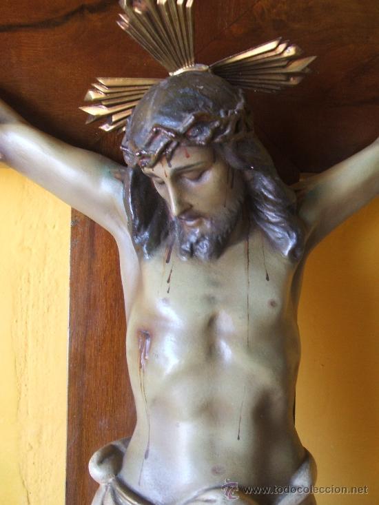 Antigüedades: CRUCIFIJO. SANTO CRISTO MUY GRANDE. - Foto 3 - 38205557