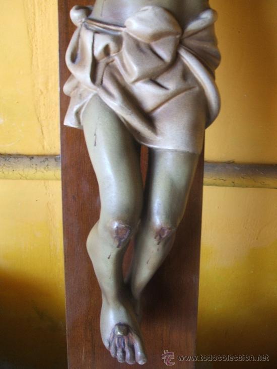 Antigüedades: CRUCIFIJO. SANTO CRISTO MUY GRANDE. - Foto 4 - 38205557