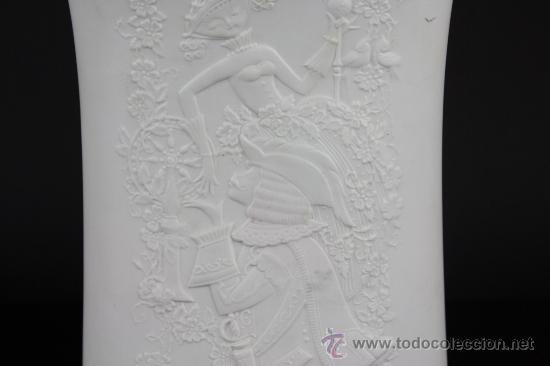 Antigüedades: JARRON EN PORCELANA ALEMANA CON MARCAS EN LA BASE MOTIVO DE EPOCA. PRINC S XX. - Foto 4 - 38220717