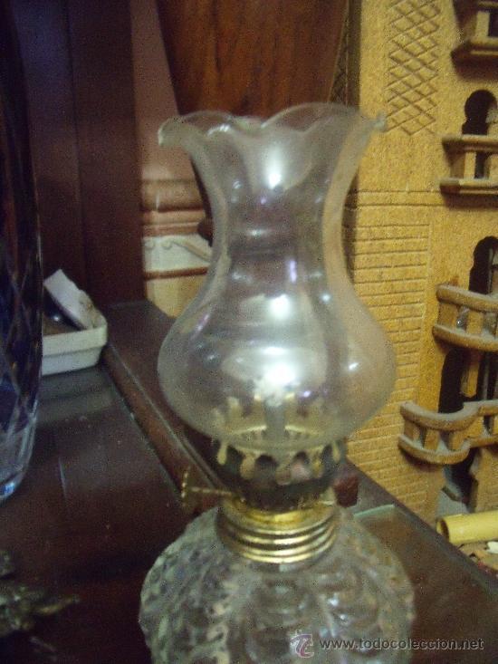 Antigüedades: PRECIOSO QUINQUEL DE VIDRIO - Foto 3 - 38227136