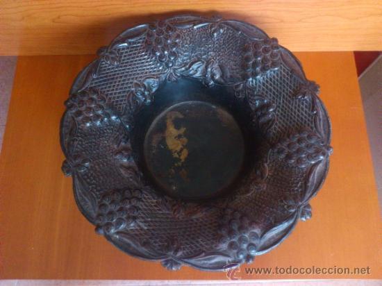 Antigüedades: Frutero antiguo de laton repujado - Foto 11 - 38225734