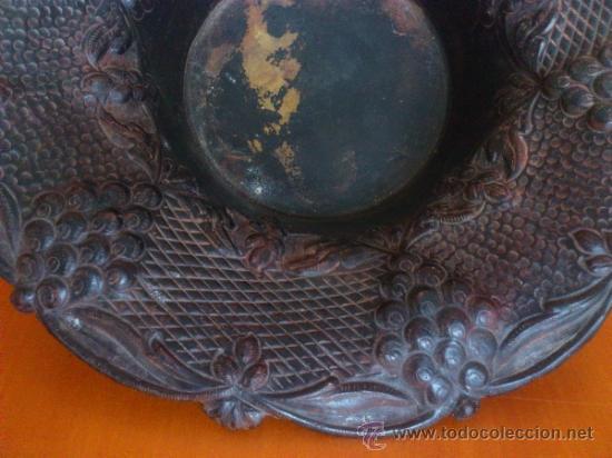 Antigüedades: Frutero antiguo de laton repujado - Foto 7 - 38225734