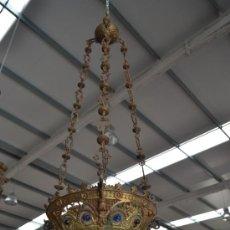 Antigüedades: LAMPARA ACEITERA EN BRONCE. S. XIX. Lote 38231989