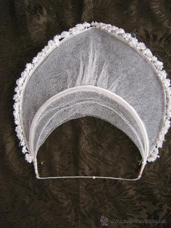 antiguo tocado tiara de novia flores de tela antigedades moda y mujer