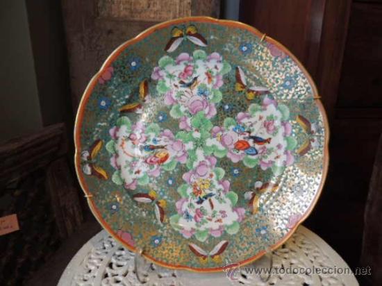 PLATO DE PORCELANA CHECOSLOVACA FIRMADO (Antigüedades - Porcelanas y Cerámicas - Otras)